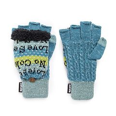 Women's MUK LUKS Flip-Top Tech Mittens