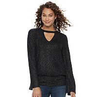 Women's Jennifer Lopez Cutout Glitter Top