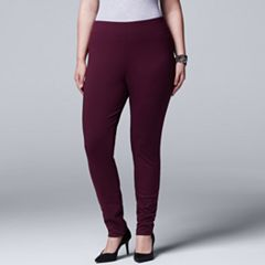Plus Size Simply Vera Vera Wang Pull-On Ponte Skinny Pants