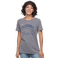 Juniors' California Grizzly Bear Burnout Graphic Tee