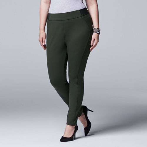 Plus Size Simply Vera Vera Wang Pull-On Skinny Pants