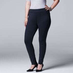 Plus Size Simply Vera Vera Wang Pull-On Skinny Pants