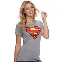 Juniors' Superman Hi-Lo Graphic Tee
