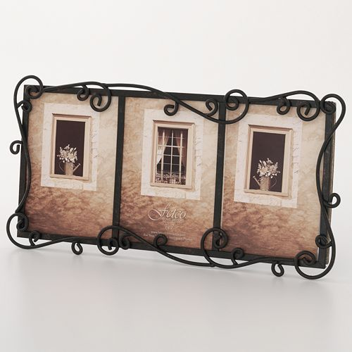 fetco linear 3 opening wrought iron collage frame
