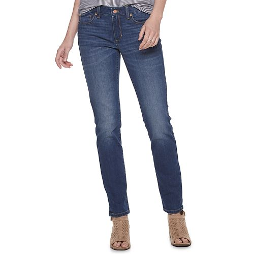 Women's SONOMA Goods for Life® Supersoft Midrise Straight-Leg Jeans