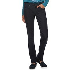 Women's SONOMA Goods for Life™ Midrise Slim Fit Straight-Leg Jeans