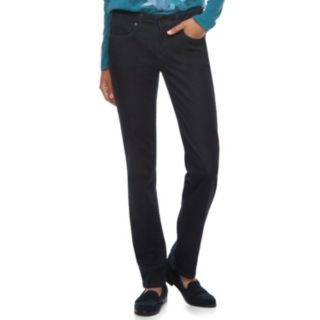 Women's SONOMA Goods for Life? Midrise Slim Fit Straight-Leg Jeans