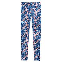 Girls 7-16 American Girl Floral Jersey Leggings