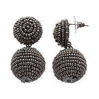 Seed Bead Double Drop Earrings
