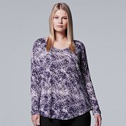 Plus Size Simply Vera Vera Wang Printed Tee