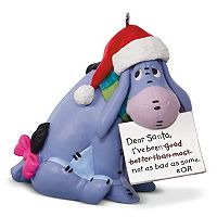 Disney's Winnie the Pooh Eeyore A Letter To Santa 2017 Hallmark Keepsake Christmas Ornament