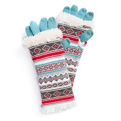 Women's MUK LUKS 3-in-1 Fairisle Tech Gloves