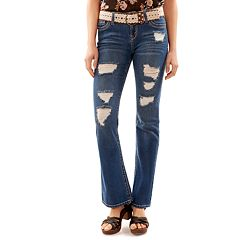 Juniors' Wallflower Legendary Ripped Bootcut Jeans