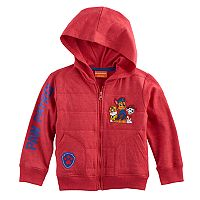 Toddler Boy Paw Patrol Rubble, Chase & Marshall Quilted Zip Hoodie