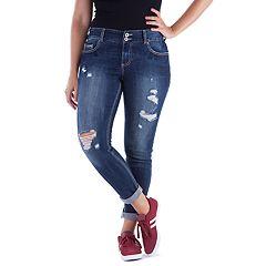 Juniors' Amethyst Curvy Skinny Jeans