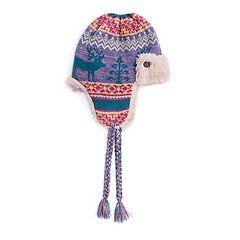 Women's MUK LUKS Reindeer Fairisle Trapper Hat