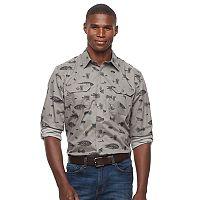 Men's Croft & Barrow® Classic-Fit Stretch Roll-Tab Button-Down Shirt