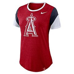 Women's Nike Los Angeles Angels of Anaheim Triblend Colorblock Tee