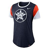 Women's Nike Houston Astros Triblend Colorblock Tee