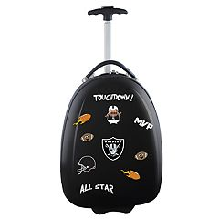 Youth Oakland Raiders Wheeled Pod Luggage