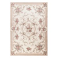 KAS Rugs Avalon Aubusson Framed Floral Rug