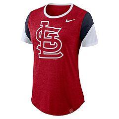 Women's Nike St. Louis Cardinals Triblend Colorblock Tee