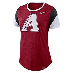 Women's Nike Arizona Diamondbacks Triblend Colorblock Tee