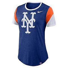 Women's Nike New York Mets Triblend Colorblock Tee