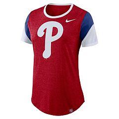 Women's Nike Philadelphia Phillies Triblend Colorblock Tee