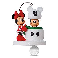 Disney's Mickey Mouse & Minnie Mouse Snowmouse Surprise 2017 Hallmark Keepsake Christmas Ornament