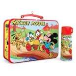Disney's Mickey Mouse & Friends Lunchbox & Thermos 2017 Hallmark Keepsake Christmas Ornament 2-piece Set