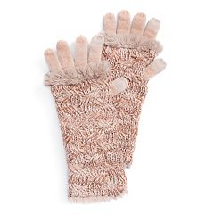 Women's MUK LUKS 3-in-1 Cable Knit Tech Gloves