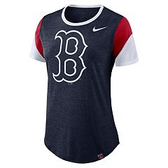 Women's Nike Boston Red Sox Triblend Colorblock Tee