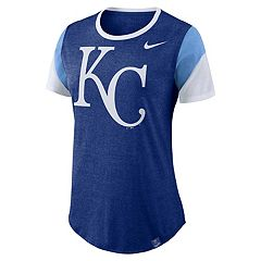 Women's Nike Kansas City Royals Triblend Colorblock Tee