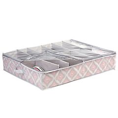 The Macbeth Collection Closet Candie Ikat 12-Pair Under The Bed Shoe Storage Box