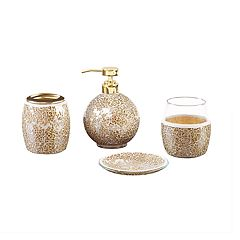 Madison Park 4-piece Mosaic Bath Accessory Set