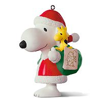 Peanuts Spotlight on Snoopy 20th Anniversary Porcelain 2017 Hallmark Keepsake Christmas Ornament
