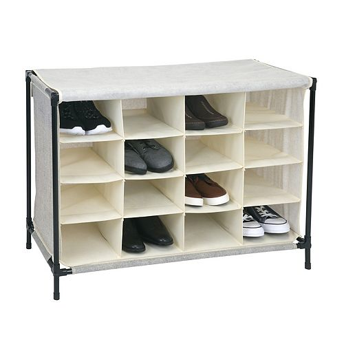 Simplify 16-Compartment Shoe Storage Cubby