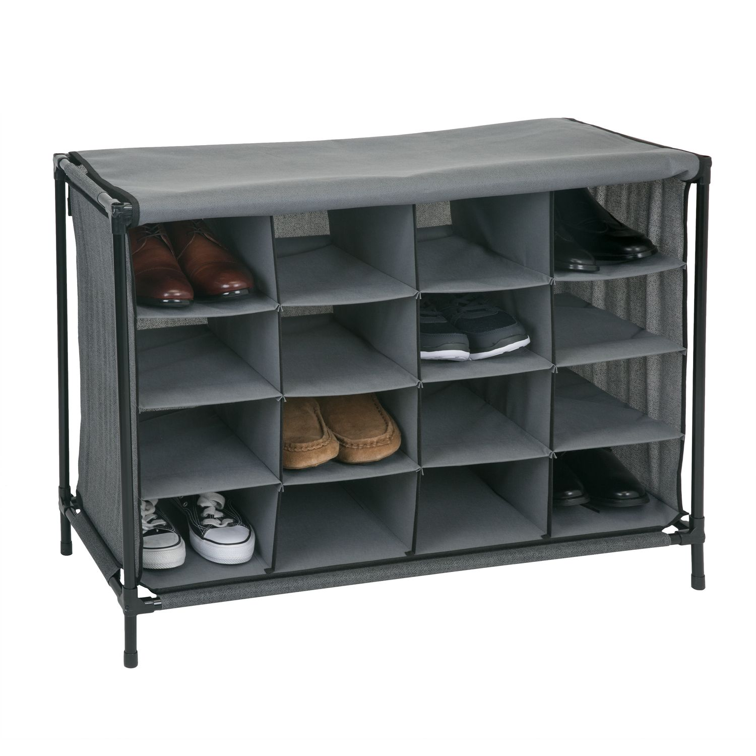 Simplify 16 Compartment Shoe Storage Cubby