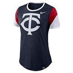 Women's Nike Minnesota Twins Triblend Colorblock Tee