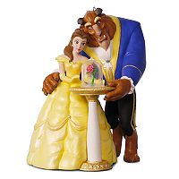 Disney's Beauty and the Beast Tale As Old As Time Light-Up Musical 2017 Hallmark Keepsake Christmas Ornament