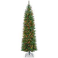 National Tree Company 6.5-ft. Pre-Lit Kingswood Fir Slim Artificial Christmas Tree