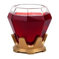 BigMouth Inc. Diamond Ring Stemless Wine Glass & Coaster Set