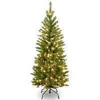 National Tree Company 4.5-ft. Pre-Lit Kingswood Fir Slim Artificial Christmas Tree