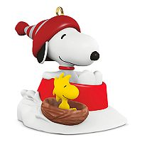 Peanuts Winter Fun with Snoopy Mini 2017 Hallmark Keepsake Christmas Ornament