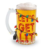 BigMouth Inc. Get Lit LED Holiday Beer Glass