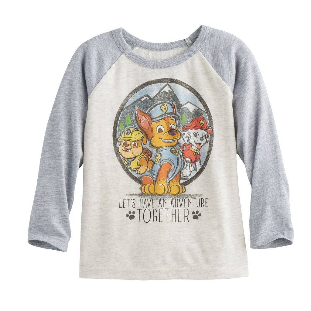 Toddler Boy Jumping Beans® Paw Patrol Chase Rubble & Marshall Long-Sleeve Tee