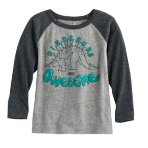 """Toddler Boy Jumping Beans® """"Dinosaurs Are Awesome"""" Graphic Long-Sleeve Tee"""