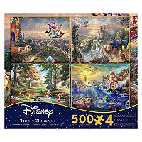 Disney Movie Puzzle Thomas Kinkade 4-piece Set by Ceaco