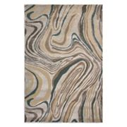 KAS Rugs Donny Osmond Home Timeless Wood Grain Abstract Rug